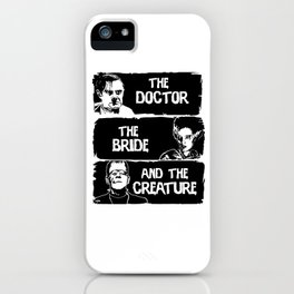 The doctor the bride and the creature  iPhone Case