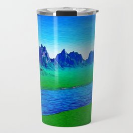 Mountain River Landscape Travel Mug