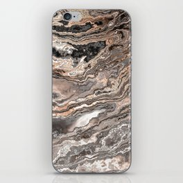 Brown Marble Texture iPhone Skin