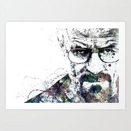 Bryan Cranston, Heisenberg, Breaking Bad Art Print