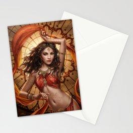Fire opal Stationery Cards