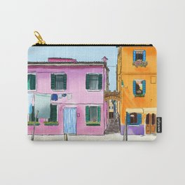 Colorful Houses in Italy Carry-All Pouch