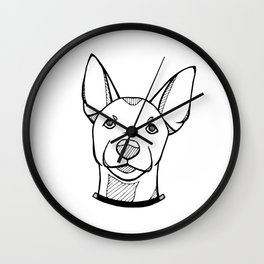 Miniature Pinscher Portrait Wall Clock
