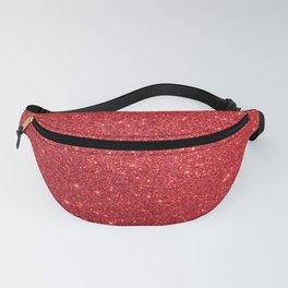 Ruby Red July Leo Birthstone Shimmering Glitter Fanny Pack