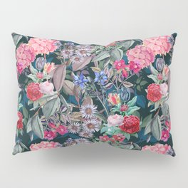 Floral on Dark Background Pillow Sham