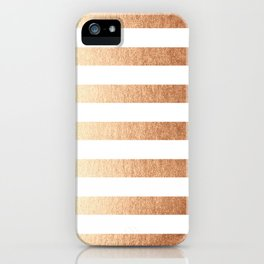 Simply Striped Deep Bronze Amber iPhone Case