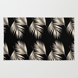 Palm Leaves Pattern #13 #Gold Touch #Black #decor #art #society6 Rug