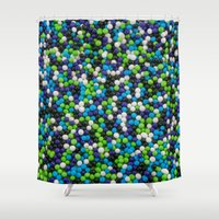 sprinkles Shower Curtains featuring Sprinkles by Jessica Torres Photography