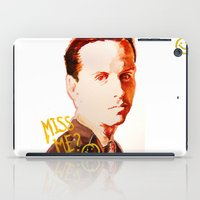 moriarty iPad Cases featuring Miss me? - Jim Moriarty by Pash Arts