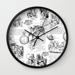 Alice in Wonderland - Pages Wall Clock