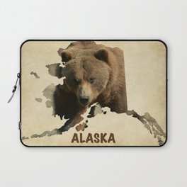 Alaskan Grizzly Map Laptop Sleeve