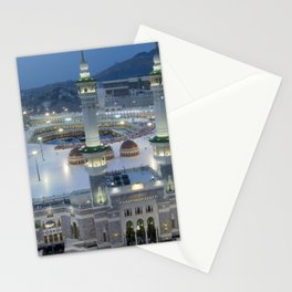 The Hajj is an annual Islamic pilgrimage to Mecca, Saudi Arabia - the holiest city for Muslims Stationery Cards