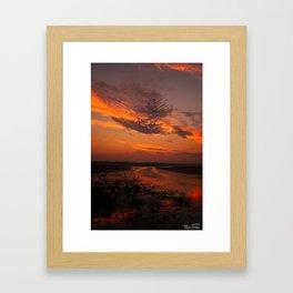 Sun Rise And Sunsets Framed Art Print