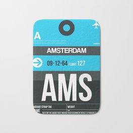 AMS Amsterdam Luggage Tag 1 Bath Mat