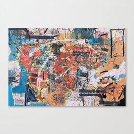 World Mapsqiuat Canvas Print