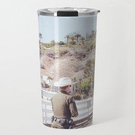 Cowboy and Sheriff Travel Mug