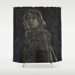 Jyn Erso Shower Curtain