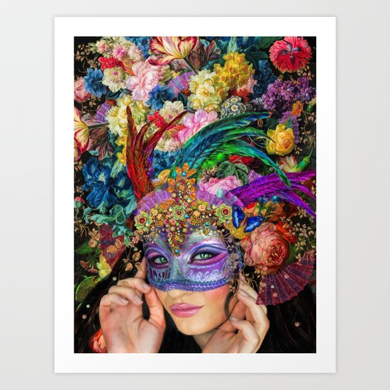 The Mascherari's Muse Art Print