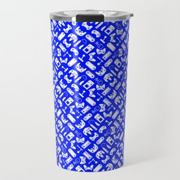 Control Your Game - White on Blue Travel Mug