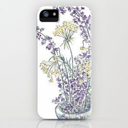Wild Flowers Ink and Watercolor  iPhone Case