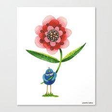 Red Wonder Flower Canvas Print