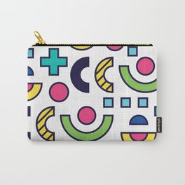 Bright Background in Neo Memphis Style Carry-All Pouch