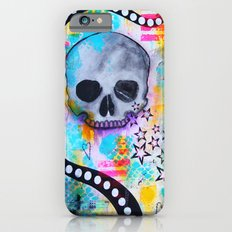 Colorful Crying Skull-LARGE PRINT/METAL PRINT iPhone 6s Slim Case