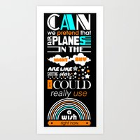 airplanes Art Prints featuring Airplanes by munchinees