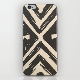Tropical Tribal Black and White Pattern iPhone Skin
