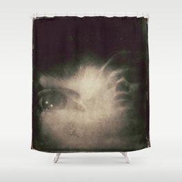 Dark eye Shower Curtain