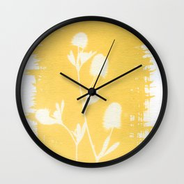 Herbal Sunprint #6 Wall Clock