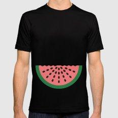 Watermelon Mens Fitted Tee Black MEDIUM