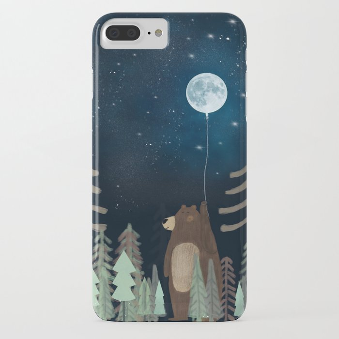 the moon balloon iphone case