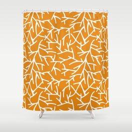Branches - Orange Shower Curtain