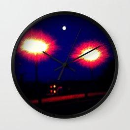 Lights on a Bridge Wall Clock
