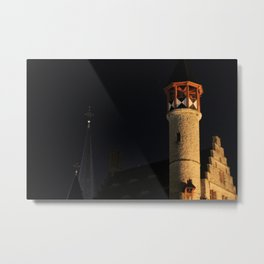 Rooftops by Night, Ghent (Gent) Metal Print