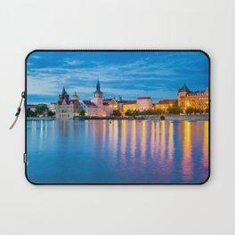 Dusk on the River Vltava Prague Czech Republic Laptop Sleeve