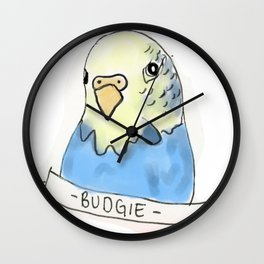 Budgie/Parakeet Wall Clock