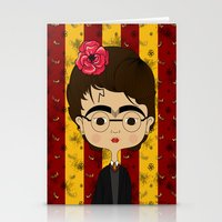 potter Stationery Cards featuring Frida Potter by Camila Oliveira
