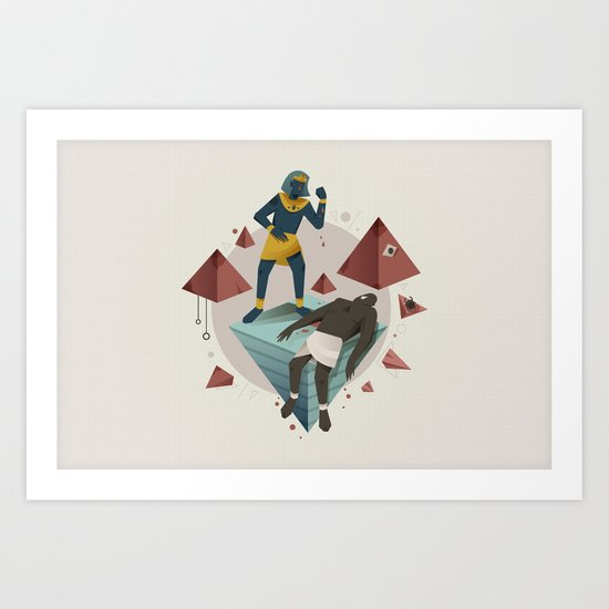 Moses Murders a Man (By Tommy Chandra) Art Print