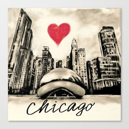 I love Chicago Canvas Print