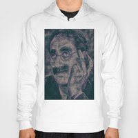 marx Hoodies featuring Groucho Marx - Duck Soup Screenplay Print by Robotic Ewe