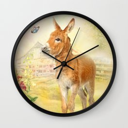 Little Donkey Wall Clock