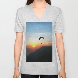 Sunset Paraglide Unisex V-Neck