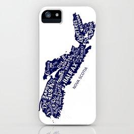 Nova Scotia Map iPhone Case