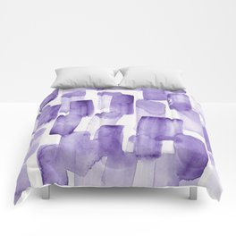 Purple Watercolour Patterns | 190129 Abstract Art Watercolour Comforters