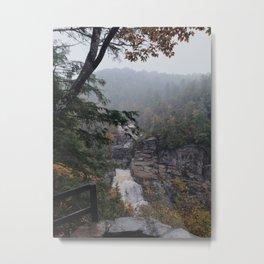 Autumn Linville Falls Metal Print
