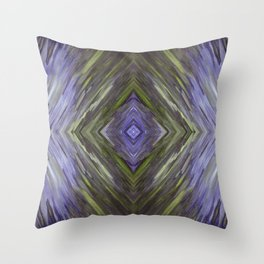 Claret and Moss Waves Throw Pillow