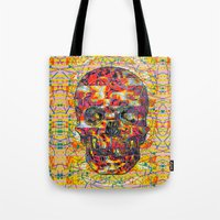 ashton irwin Tote Bags featuring Ticket to Ride (1R) by Wayne Edson Bryan