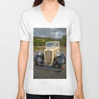 austin V-neck T-shirts featuring Austin 7 by Adrian Evans